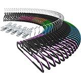 Kleiderbügel, Sable Anzugbügel, Jackenbügel 60er Packung, Antirutsch, ABS-Material, Multifunktionsbügel für Kleider/Jacken/Hosen/Krawatte, 6 Farben, 10 Wäscheklammern Inklusive