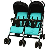 R for Rabbit Ginny and Johnny – Baby Twin Stroller and Pram Easy Foldable with Adjustable Seating Positions with Huge Storage