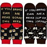 If You Can Read This Bring Me Wine Tea Beer Coffee Socks, Novelty Funny Socks Mens Cotton Socks Fun Birthday Present Christma