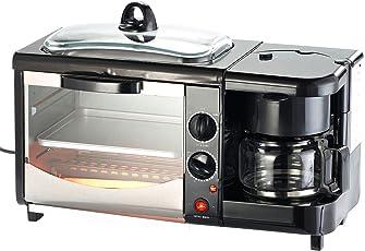 Rosenstein & Söhne Toaster: 3in1-Frühstücksofen mit Glasdeckel, 1.450 Watt (Miniküche)