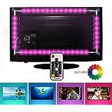 TV LED illuminazione, EveShine Striscia LED TV 78.7in/2 m/4 Nastri a Multicolore RGB Retroilluminazione TV a LED con Telecomando per HDTV da 40 a 60 Pollici - Riduce l'Affaticamento Visivo ed