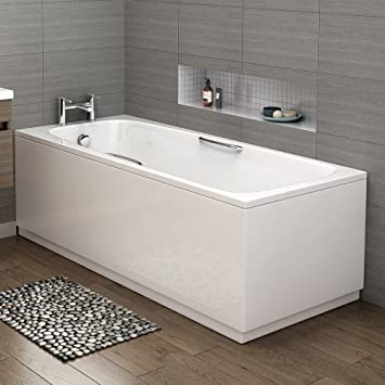 Great 1700 Mm Round Single Ended Bath Modern Straight White Bathtub With Handles:  IBathUK: Amazon.co.uk: DIY U0026 Tools