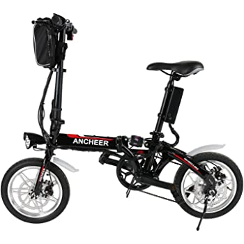 Lonlier Mini Bicicleta Eléctrica Plegable de Montaña con Rueda de 14 pulgadas Batería de Iones de