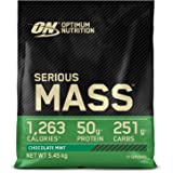 Optimum Nutrition Serious Mass Gainer, Proteine Whey in Polvere per Aumentare la Massa Muscolare con Creatina e Glutammina, C