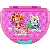 P:os 29436 Boîte à sandwich pour fille avec motif Paw Patrol en rose, env. 16 x 12 x 6,5 cm, en plastique, sans BPA ni…