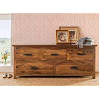 Trinayan Handicrafts Solid Sheesham Wood Chest of Drawers for Bedroom and Living Room (Design 6)