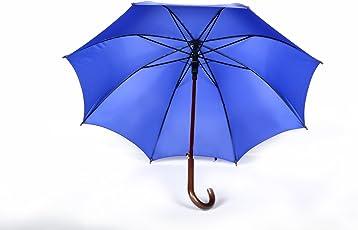 Shroff's Anchor Large Blue Wooden J Handled Umbrella