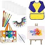 MMTX Kit Pinturas para Niños con Caballete Pintura, Acuarelas Niños de 12 Colores Pinturas Acuarelas, Pinceles Pintura, Lienz