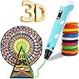 Pluma 3D, Bolígrafo 3D Pluma de Impresión 3D con 12 colores de filamento PLA, compatible con PLA y ABS, Pantalla LCD, 3D Pen