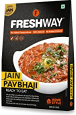 FRESHWAY Ready to Eat Freeze Dried Jain Pav Bhaji with No Added Preservatives & Colors