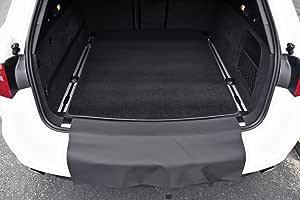 2-teilige Kofferraummatte mit Stoßstangenschutz für Audi A6 4G Avant mit Schiene