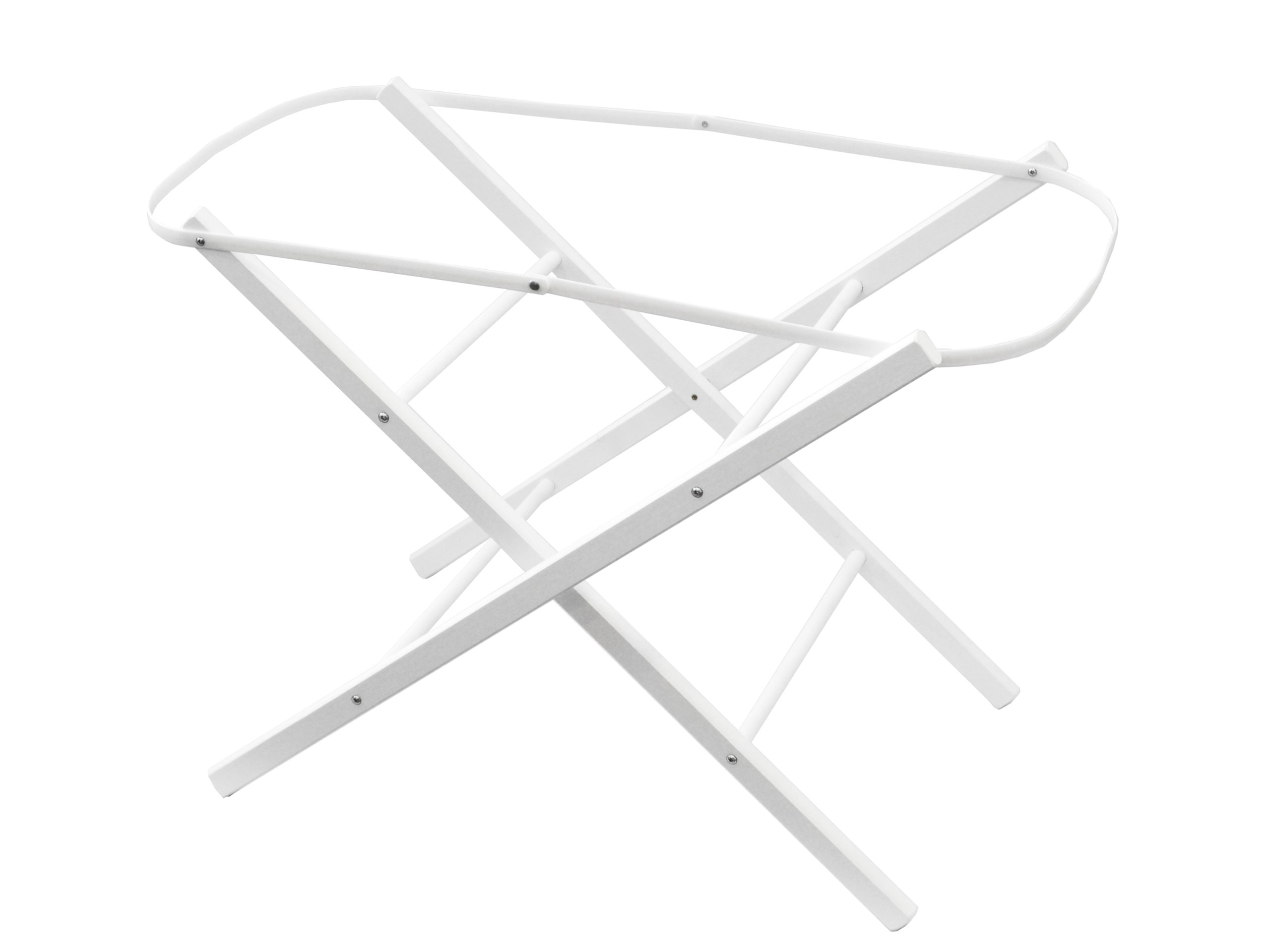 Shnuggle Moses Basket Folding Stand - White  Shnuggle Folding Stand in White Stable folding stand for moses baskets Made in the UK 1