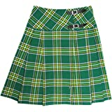 "Tartanista Long Plain Black Tartan/Plaid 23"" Wrap Kilt Skirt"