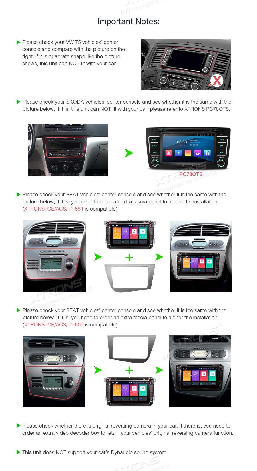 XTRONS-8-Android-90-4GB-RAM-64GB-ROM-Octa-Core-Autoradio-mit-Touchscreen-DVD-Player-untersttzt-4G-WiFi-Bluetooth-DAB-OBD2-CAR-Auto-Play-TPMS-Musik-Streaming-FR-VWSEATSkoda