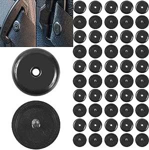 Runcci Yun 50 Pcs Universal Gurt Knopf Aus Hartplastik Geeignet Für Alle Kfz Marken Gurt Rücklauf Sperre Schwarz Sicherheitsgurt Stopper Autogurt Niete Auto