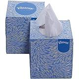 KLEENEX® Facial Tissue Cube 60041-2 ply Face Tissue - 2 Tissue Boxes x 80 Facial Tissues - Sheet Size 21 x 21 cm (160 facial