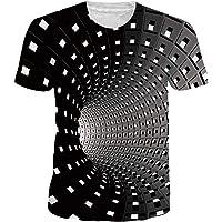 uideazone Homme T-Shirts Unisexe 3D Imprimé T-Shirt Décontractée Manches Courtes pour Homme Femme