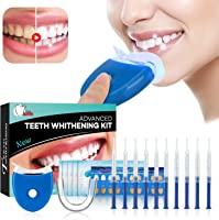 Teeth Whitening Kit Sbiancamento denti - ISUDA Gel Sbiancante Denti Professionale, 10x Sbiancamento dei denti,10x...