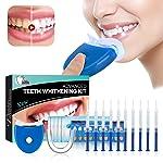 Teeth Whitening Kit Sbiancamento denti - ISUDA Gel Sbiancante Denti Professionale, 10x Sbiancamento dei denti,10x Pulizia...