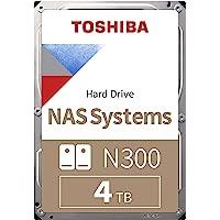 Toshiba N300 4 TB NAS 3.5'' SATA Interne Festplatte. 24/7-Betrieb, optimal für NAS mit 1–8 Einschüben, 256 MB…