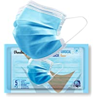 Vandelay 3 Ply Non-Woven Fabric Disposable Surgical Mask - BFE & PFE 99.5% - UV Sterilized - 3 Layer Face Masks (Blue…