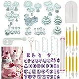 أدوات كيك، 90 قطعة من قوالب الكعك فندان كرافت حروف الأبجدية بقطع أدوات تزيين الكيك قطع أدوات قص أدوات تشكيل الحلويات عدة تدحر