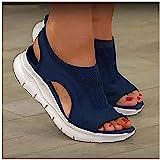 FZFXDC 2021 Upgrade Summer Washable Slingback Ortopedico Slide Sandali Sportivi, Mesh Morbida Suola Fashion Scarpe da Donna,