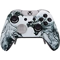 eXtremeRate Soft Touch Grip Wolf Soul Front Housing Shell Faceplate for Microsoft Xbox One Elite Controller Model 1698…
