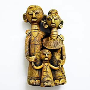 Dholak Kolke Yuktha Rajasthani Small Kolke Dhokra Doll Pack of 1 Pcs Height 12.5 cm, Width 4 cm