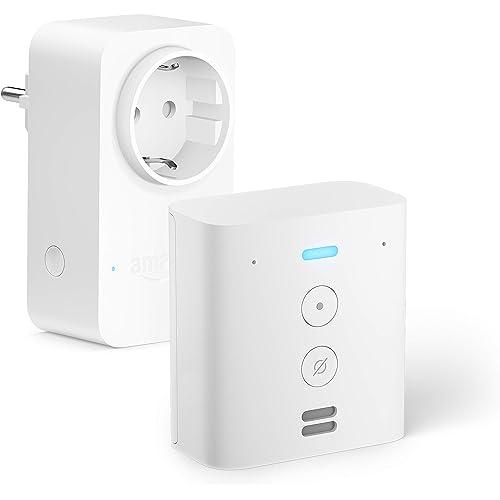 Echo Flex +Amazon Smart Plug (presa intelligente con connettività Wi-Fi), compatibile con Alexa