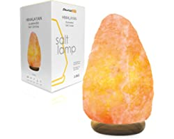 2-3 Kg Salt Lamp- Pink Crystal Light Home Decor Accessory with Button Control and British Style Electric Plug Fine Quality Re