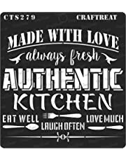 """thecraftshop 6""""X6"""" CrafTreat Stencil Kitchen Reusable Template for Art and Craft, Mixed Media, Home Decor, DIY Albums, Card Making and Fabric and Wall Painting"""