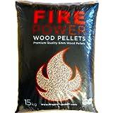 Firepower Wood Pellets | Biomass Stove Heating Fuel | Outdoor Pizza Oven Pellets | High Energy Wood Pellets 6mm 15Kg