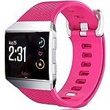 KingAcc Compatibel Fitbit Ionic armband, zachte siliconen reservearmband armband voor Fitbit Ionic, metalen gesp fitness armb