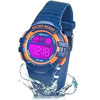 ZKIAH Orologio Digitale Bambini, Adolescenti Orologio Ragazzo Sportivo Impermeabile Orologi per Bambini a 7 Colori con…