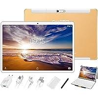 GOODTEL Tablet 10 Pollici, 4 GB RAM + 64 GB ROM, G3 Tablets PC Android con Doppia Fotocamera (5MP+8MP), WiFi | GPS | Bluetooth 4.0 | Doppia SIM | MicroSD | Type-C, con Tastiera Bluetooth, Oro