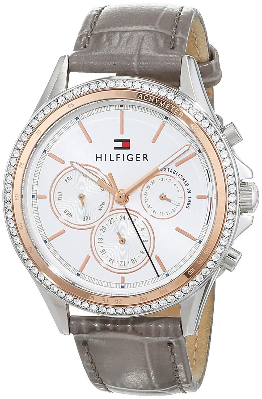 Tommy Hilfiger Reloj Multiesfera para Mujer de Cuarzo con Correa en Cuero 1781980