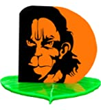 U & U Unique Utilities Hanuman Ji Car Dashboard God Idol Accessory (Orange 3 in)