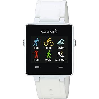 Garmin Vivoactive - Montre Connectée Multisports avec GPS Intégré - Ceinture Cardio-Fréquencemètre Incluse - Blanc