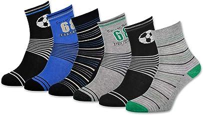 sockenkauf24 6 Paar Kinder Socken versch. Motive für Mädchen & Jungen Kindersocken Baumwolle