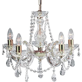 Marie Therese 5 Light Crystal Chandelier
