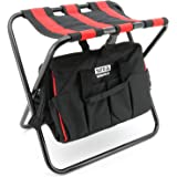 Yato YT-7446 Tool Bag With Seat.42X29X30Cm|Assembler for Carpenter Fitters|Leather bag|Tool Pouch for Technician|Tool Pouch B