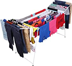 Kurtzy Foldable Garments Clothes Laundry Dryer Hanger Rack Rail Organizer Stand for Kids Indoor and Outdoor