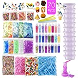 Slime Supplies Kit Slime Add Ins, Slime Kit for Girls and Boys Includes Unicorn Slime Charms, Glitter Sheet Jars, Foam Balls,
