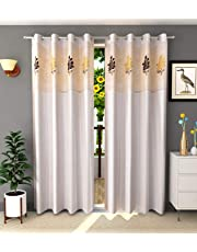 LaVichitra 1 Piece Curtain with Floral Net