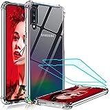 LeYi per Cover Samsung Galaxy A50 / A30s / A50s con Pellicola Protettiva in Vetro Temperato [2 Pack], Silicone Trasparente Ha