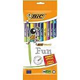 BIC Matic Fun Porte Mines 0,7 mm HB, Avec Gomme, Parfait pour l'école,Criterium Facile A Utiliser, Couleurs Assorties, Lot de
