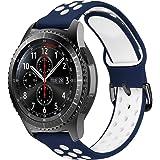 MroTech 22 mm snabbfrigörande klockarmband, läderarmband, kompatibelt med Samsung Galaxy Watch 46 mm/S3 Frontier/Huawei Watch