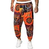 Dazzerake Pantaloni da Uomo con Stampa Graffiti Unica Streetwear Pantaloni Larghi con Coulisse alla Caviglia Stile Etnico Mul
