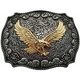 YONE Golden Eagle Western Belt Buckle(Size: 1.5 inch)